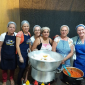 Trabalhadores com carinho na festa da Padroeira Santa Bárbara