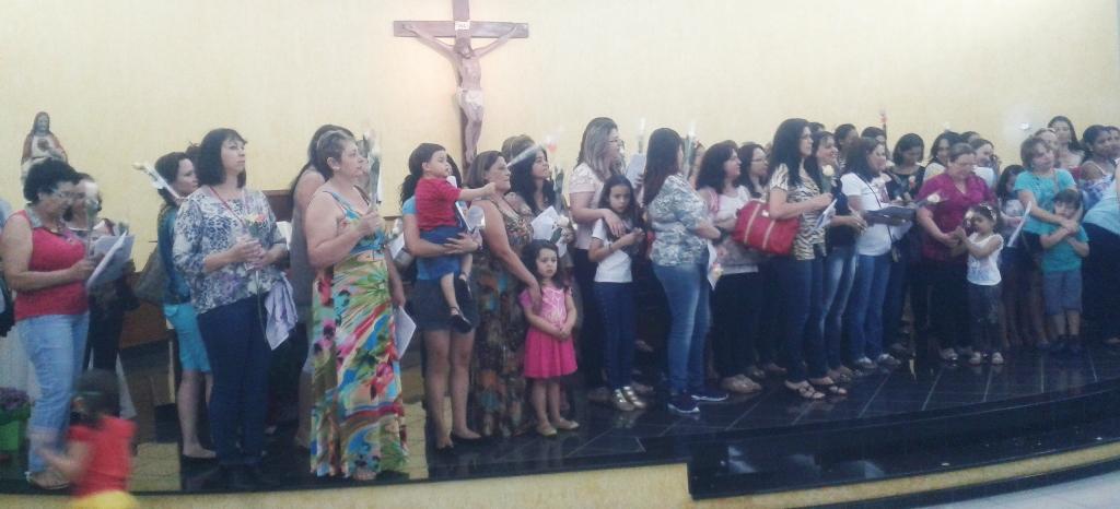 CHEGADA DO FNM DAS MULHERES NA PARÓQUIA SAGRADO CORAÇÃO DE JESUS - 2014